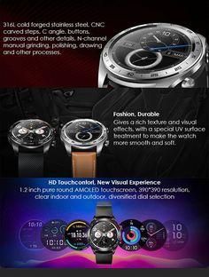 HUAWEI HONOR Magic Smart Watch - US$142.99 Sales Online black - Tomtop Smartwatch, Apple Technology, Best Black, Magic, Watches, Smart Watch, Wristwatches, Clocks