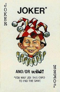 Mad Magazine Card Game Joker from Parker Brothers, 1979 Mad Magazine Card Game Joker von Parker Brothers, 1979 Joker Playing Card, Playing Cards Art, Joker Card Tattoo, Joker Clown, Jokers Wild, Mad Magazine, Custom Decks, Deck Of Cards, Card Deck