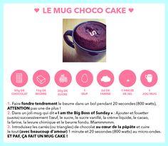 Recette mug cake chocolat en français