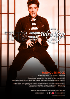 Hard Rock Cafe Penang is celebrating the King of Rock & Roll's Birthday. Come & join us Rock And Roll Birthday, Jailhouse Rock, Hard Rock, Join, Celebrities, Celebs, Celebrity, Hard Rock Music, Famous People
