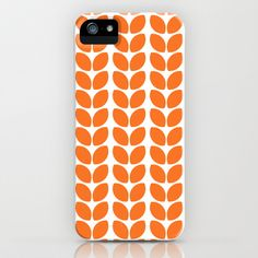leaves - orange iPhone & iPod Case by her art