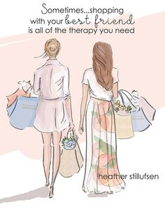 Best Friends Shopping with Your Best Friend Cards for