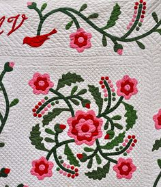 A Rose By Any Other Name.....barb vedder's 1998 rose quilt.