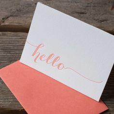 Ladybug Press: Hello Letterpress Cards, Set of 6