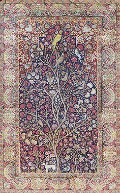 Carpets Auction - LAVER KIRMAN, TREE OF LIFE - PERSIAN