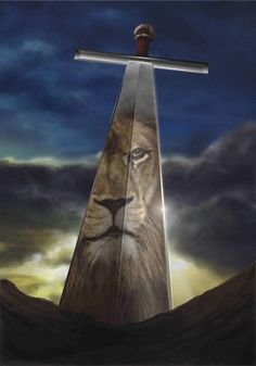 Aslan, King Of Narnia. From The Chronicles Of Narnia. Christian Warrior, Christian Art, Sword Of The Spirit, Saint Esprit, Prophetic Art, Lion Of Judah, Chronicles Of Narnia, Prayer Warrior, Spiritual Warfare