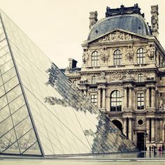 the louvre museum in paris, ive been here. amazing architechture