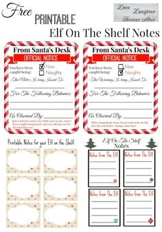 Surprise the kids with special note from your Elf. Get these printable Elf On The Shelf Notes