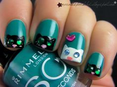 "Odd One Out! | Emerald Sparkled **I do not usually like ""things"" on my nails, but this is a cute use of tiny gems!"