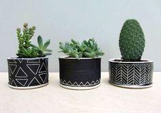 Para reutilizar las latitas y qué tal con cactus de tela o de crochet...: