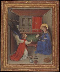MAESTRO DEL JARDIN DEL PARAISO DE FRANKFURT LA ANUNCIACION 1410-30