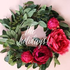 Holiday Wreath DIY. Use silk flowers and eucalyptus from Afloral.com for your holiday wreath.