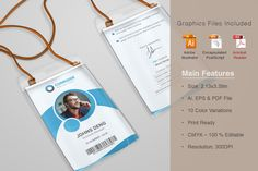 Corporate ID Card Templates @creativework247