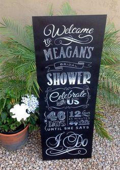 outdoor rustic chalkboard bridal shower signs  #BridalShower #ElegantWeddingInvites