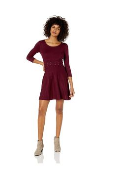 (This is an affiliate pin) A. Byer Women's Long Sleeve Skater Sweater Dress (Junior's)
