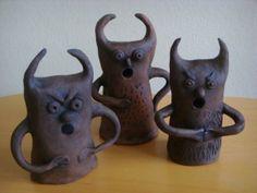 čerti Pottery Ideas, Petra, Ceramics, Tableware, Figurine, Children, Gypsum, Clay, Sculptures