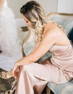 Two Piece Spaghetti Straps Bridesmaid Dresses, Shinning Gold Rose Bridesmaid Dresses,Cheap Bridesmaid Mermaid Bridesmaid Dresses, Elegant Bridesmaid Dresses, Bridesmaid Dresses Online, Blue Bridesmaids, Mermaid Dresses, Formal Evening Dresses, Dress Formal, Lace Dress, Backless