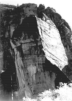 In Zion National Park (http://www.archives.gov/research/ansel-adams/images/aav02.jpg)