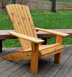 Free Adirondack Chair Plans - Step 8 -  Applying Finish