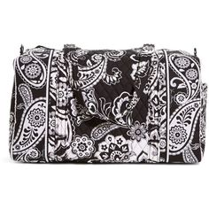 Vera Bradley Small Duffel Travel Bag in Midnight Paisley ($68) ❤ liked on Polyvore featuring bags, luggage, midnight paisley, sale and travel