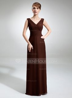 Bridesmaid Dresses - $108.99 - A-Line/Princess V-neck Floor-Length Chiffon Bridesmaid Dress With Ruffle (007001832) another option