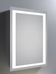 Fedora 47 Super Bright LED Bathroom Mirror With Sensor Demister Pad And Shaver Socket Size