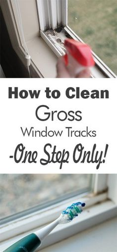 Best Spring Cleaning Ideas - Clean Gross Window Tracks In One Step - Easy Cleaning Tips For Home - DIY Cleaning Hacks and Product Recipes - Tips and Tricks for Cleaning the Bathroom, Kitchen, Floors and Countertops - Cheap Solutions for A Clean House Deep Cleaning Tips, House Cleaning Tips, Diy Cleaning Products, Cleaning Solutions, Cleaning Hacks, Home Cleaning Services, Diy Hacks, Spring Cleaning Tips, Residential Cleaning Services