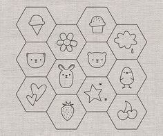 Hexagon Patterns for Stitching | Flickr - Photo Sharing!