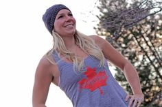 Women's O Canada tank top $27 www.jekyllhydeapparel.com