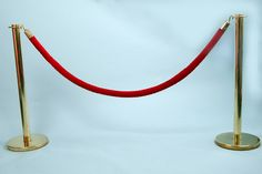 brilliant DIY stanchions for fun Kids set - http://www.ehow.com/how_7685581_make-red-carpet-poles.html