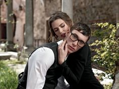 Dolce & Gabbana Men Ophthalmic Eyewear Advertising Campaign for Fall Winter 2014 with Bianca Balti. Eyeglasses Collection by Dolce&Gabbana Accessories.