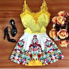 Maravilhoso Vestido Festa Floral