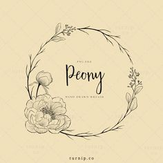 Flower Frame Png, Flower Circle, Peony Illustration, Wreath Tattoo, Framed Tattoo, Circle Drawing, Circle Tattoos, Wreath Drawing, Flower Logo