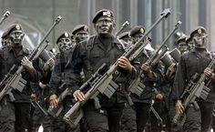 Les forces spéciales mexicaines.