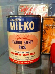 atompunk:    Instant Mil-ko from The Diefenbunker - a four-story bunker, built during the Cold War as Canada's communication and governance hub in the case of a nuclear attack on Ottawa. Now a museum.    Image from Debcha (via Warren Ellis)