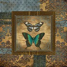 Flower Digital Art - Butterfly Patchwork by Jean Plout