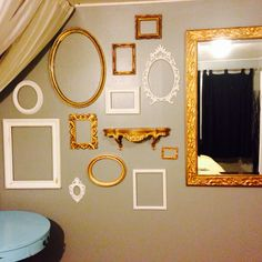 VINTAGE FRAME WALL put some stuff in them though lol