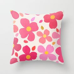 Dogwood Pink Throw Pillow by Garima Dhawan - $20.00