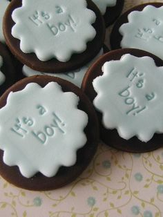 Baby Boy Cupcake Toppers - Baby Shower, Etsy.
