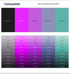 Hex Color Palette, Purple Color Palettes, Hex Codes, Hex Color Codes, Color Patterns, Color Schemes, Colour Inspiration, Lavender Color, World Of Color