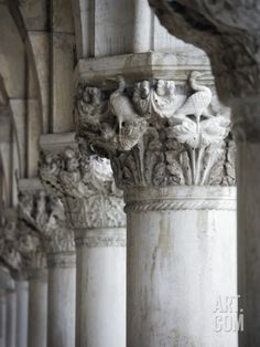Columns of the Doge's Palace Photographic Print by Tom Grill at Art.com