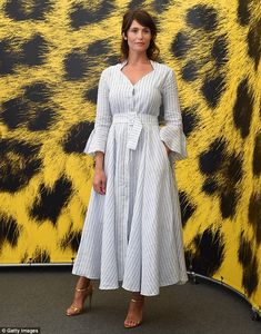 She's earned her stripes: Gemma Artertonput on another sartorially astute display during an appearance at the 69th Locarno Film…