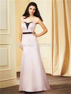 Elegant Long Bridesmaid Dress with Sashes 2015 Sweetheart Applique Dress For Party A Line Satin Vestido De Festa Longo MB427