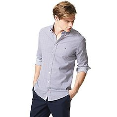 Image for NEW YORK FIT MICROPRINT SHIRT from Tommy Hilfiger USA