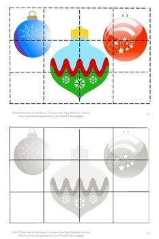 Christmas Cut and Paste Puzzles, Special Education Interactive Notebook Craft Motor Activities, Winter Activities, Christmas Activities, Classroom Activities, Christmas Themes, Christmas Crafts, Christmas Puzzle, Christmas Bells, Christmas Presents