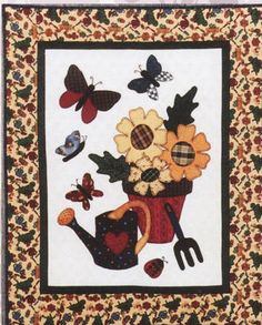 Quilted Wall Hanging Patterns applique wall hanging pattern for spring. buzzinga quilt pattern