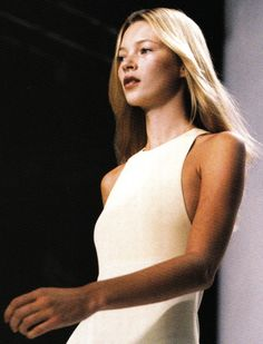 Kate Moss at Calvin Klein, Spring/Summer 1996  the iconic collection