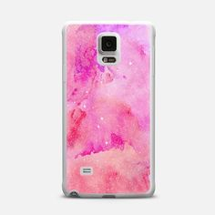 Sparkly Faux Girly Glitter with Pink and Purple Summer Watercolor Paint Pattern