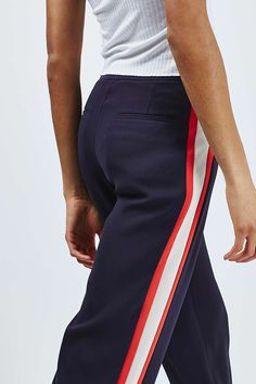 Side Stripe Wide Leg Trousers