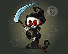 Design for print, party decoration Zip archive includes: JPEG VECTOR VECTOR (AI) PNG Purchased files contain no watermarks Halloween Cartoons, Cartoon Characters, Fictional Characters, Grim Reaper, Hallows Eve, Archive, Darth Vader, Clip Art, Zip